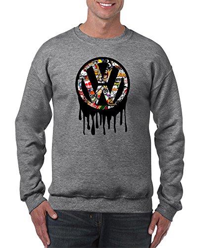 shirt19 VW Volkswagen Golf Polo Auto Grau Sweatshirt -5321 (XXL)