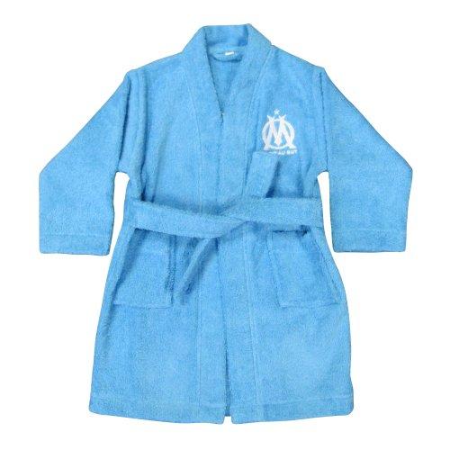CTI 041153 Peignoir Imprimé Om Logo Bleu 6/8 ans