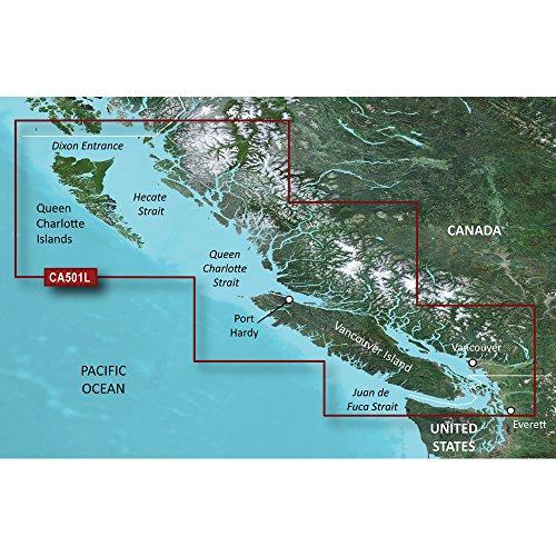 Review Of Garmin BlueChart® g2 Vision® - VCA501L - Vancouver Island - Dixon Entrance - SD Card