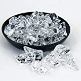Acrylic Ice Rocks, Large Clear Crushed Ice Rocks Ice Cubes Acrylic Stones Gems Diamonds Crystals for Home Decoration Wedding Display Vase Fillers