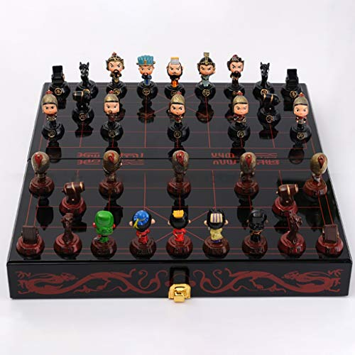 JSY Kreative dreidimensionale chinesische Schachfigur Folding Schachbrett DREI Königreiche Periode Dekoration Souvenir Handwerk Geschenk Chinesisches Schach (Color : B)
