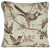 Pájaros exóticos Manta Decorativa Funda de almohada vintage funda de cojín de...