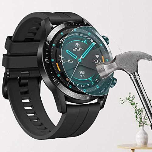 lā Vestmon Protecteur d'écran Huawei Watch GT 2 Protecteur de Verre Trempé 9H Couverture Pleine Huawei Watch GT 2 (3 Paquet)