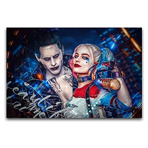 KASUP Margot-Robbie-in-Suicide-Quad-Film-as-Harley-Quinn-2880 x 1920 Kunst-Poster, Leinwand, dekoratives Gemälde, Arbeitszimmer, Büro, 40 x 60 cm