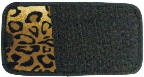 LA Auto Gear Tan Max 58% OFF Leopard Animal Print DVD Cheap super special price Organi Visor Car 10 CD