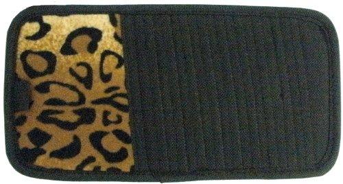 LA Auto Gear Tan Leopard Animal Print 10 CD/DVD Car Visor Organizer