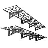 FLEXIMOUNTS 1' x 6' Black 2-Pack 1x6ft 12-inch-by-72-inch Wall Shelf Garage Storage Rack, 1x6 ft