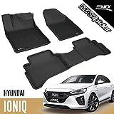 3D MAXpider para Hyundai Ioniq Eléctrico 2016-2020 Sin Manta de Cinturón de Seguridad, Aptas para Todas Las Condiciones Climáticas, Alfombrillas de Goma de Coche (Juego de Alfombras, Color Negro)