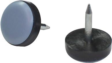 20 Pack 15mm nagel op Teflon Gliden, PTFE meubelglijders, Teflon glijders voor gemakkelijk bewegen, stoelglijden, houten v...