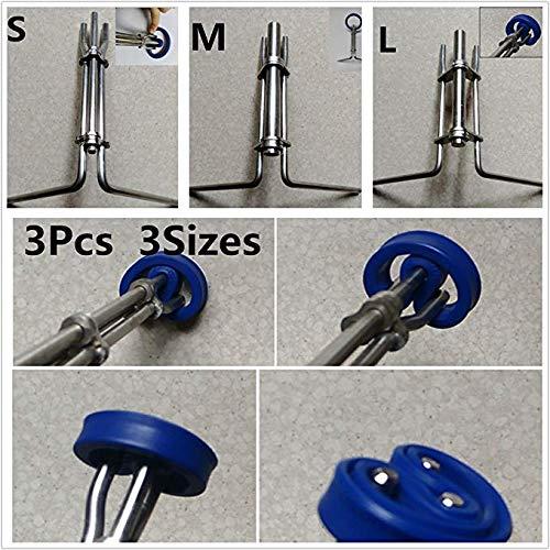 DSstyles 3pcs/Set Hydraulic Cylinder Piston Rod Seal Up U-Cup Installation Tool