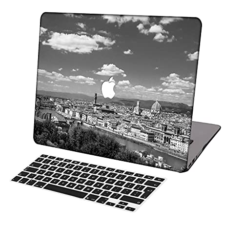 Laptop Case for MacBook Air 13 inch Model A1369/A466,Neo-wows(2 in 1 Bundle) Plastic Ultra Slim Light Hard Shell Cover UK Keyboard Cover Compatible MacBook Air 13 Inch No Touch ID,Colorful C 0887