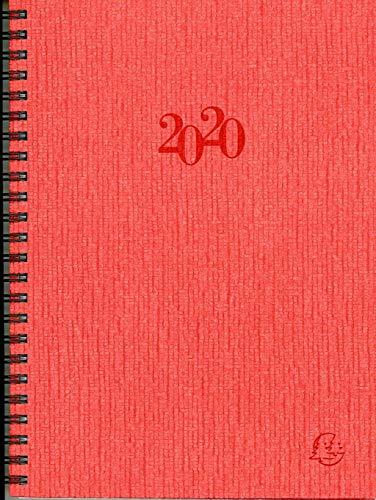 Visuel Designo 2021 Schreibtisch-Terminkalender farblich sortiert: Agenda Planing. 1 Woche auf 2 Seiten mit Tagesnotizen. 13 Monate: Dezember bis Dezember. Von 8.00 Uhr bis 21.00 Uhr.