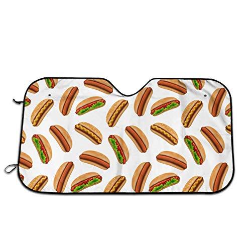 Coolopses 3D Hotdog Fast Food Car Windshield Sun Shade Visor Powerful Uv Protect