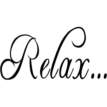 Relax Chill Out Bathroom Quote Wall Sticker Ws 32406 Home Décor Home Garden