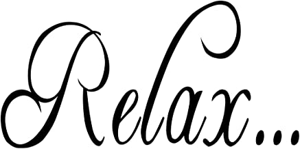 Empresal Relax Bathroom Tub Wall Quote Decal Saying Lettering Home Decor Vinyl Sticker