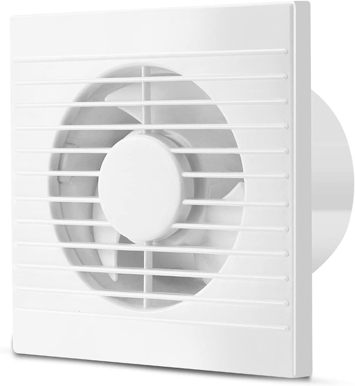 Ventilador extractor Ventilador de escape de baño Ventilador de pared de 6 pulgadas Ventilador ventilador Fuerte ventilador de ventilación de energía eólica para el baño doméstico, bajo ruido, 2 0W, 1
