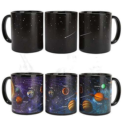 HUANLEGOU Tea Mug Giftsolar System Magic Coffee Mug Color Changing Mugs Ceramics Travel Tea Milk Cups Best Christmas Mug for Friends,A Style