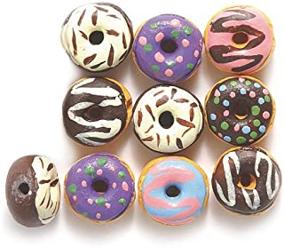 Peruvian, Assorted Hand Crafted Ceramic Tiny Donut Beads, 10mm, 10-mm