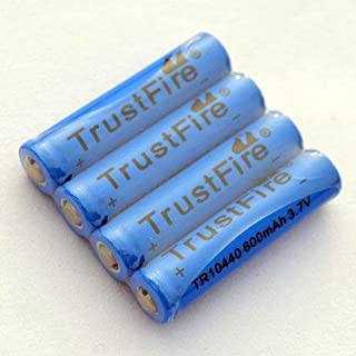 BESTSUN 4X TrustFire AAA 600mAh 3.7V Li-Ion Rechargeable Battery