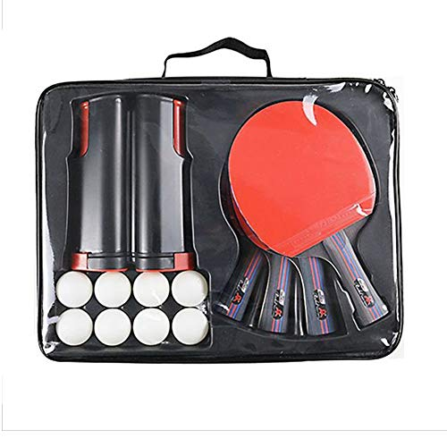 Great Features Of JIAJU Table Tennis Set,Portable Family Play Ping Pong Set with Retractable Net 4 P...