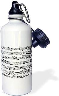 qidushop - Patrón de Notas Musicales de Piano, Color Blanco y Negro, con Notas Musicales,, Botella de Agua Deportiva de Acero Inoxidable, Taza Aislante para Ciclismo, Acampada, 53 ML