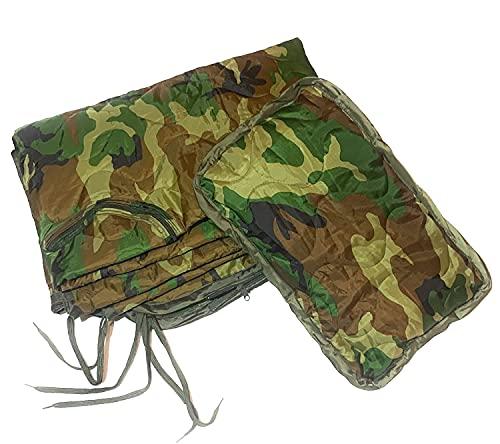 Dragoon Unlimited Reforger Woobie – Woodland Camouflage Military Grade Poncho Liner Decke Schlafsack System mit Stuff Sack und Kopfpolster