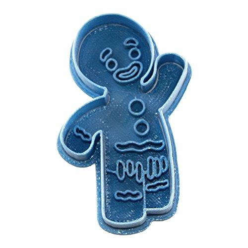 Cuticuter Jengi Shrek Cortador de Galletas, Azul. 8x7x1,5cm
