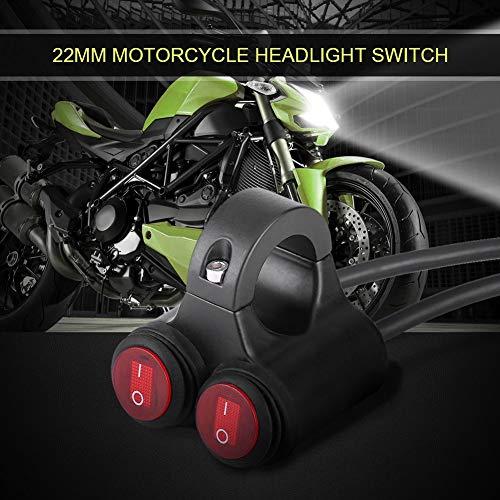 Motorfiets AAN/UIT-schakelaar, 22mm Universele Motorfiets Stuur Koplamp Rem Mistlichten Hoorn Dubbele bedieningsknop(C)