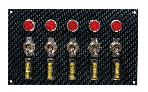 Moroso 74148 Gray/Black Fiber Design Switch Panel