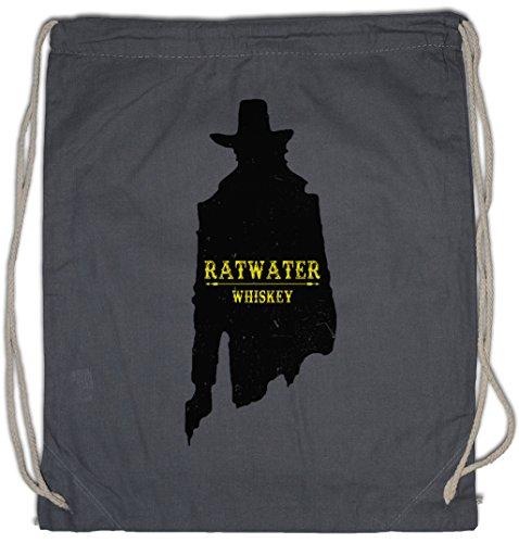 "Urban Backwoods RATWATER Whiskey ""J"" Bolsa de Cuerdas con Cordón Gimnasio Whisky Jesse Comic Preacher Cassidy Custer Texas TV Series TV Garth Cassidy"