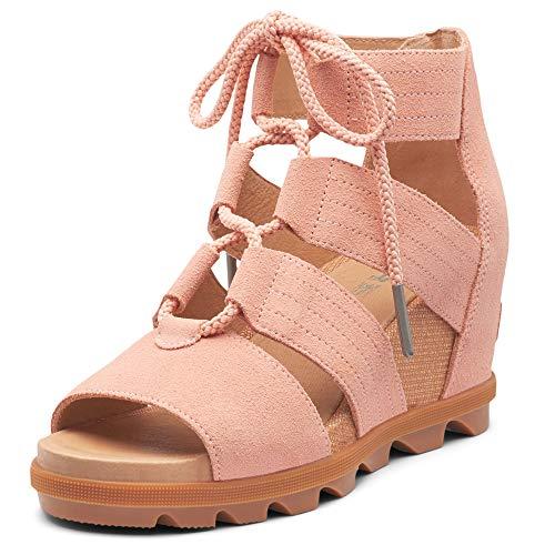 Sorel Women's Joanie II Lace Casual Wedge Sandal Tonicmelon 9 Medium US Pink
