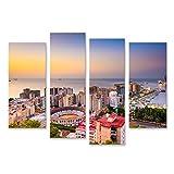 bilderfelix® Bild auf Leinwand Malaga Spanien beginnt die