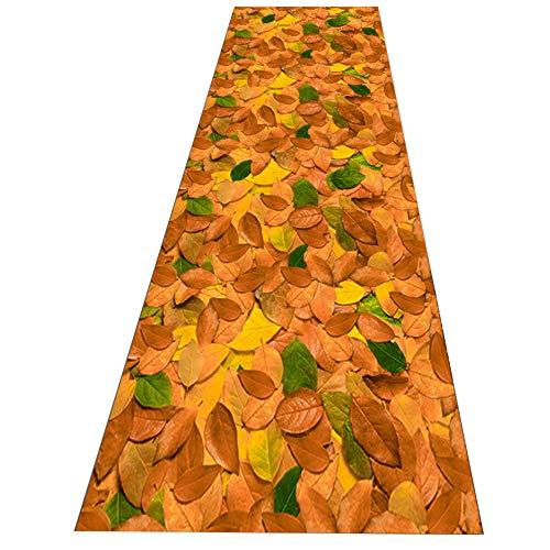 SCAHUN Alfombras De Pasillo Alargadas Planta Impresión Y Teñido No Se DesvanecenAntideslizante Pasillo Salón Alfombra Sala Cuarto Cojín De Ventana Salediza Suave Largo Alfombra,Yellow-1.2×7m