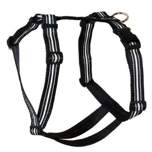 Feltmann Brustgeschirr Soft Nylonband, Reflexband, Schwarz, 60-80cm, 25mm