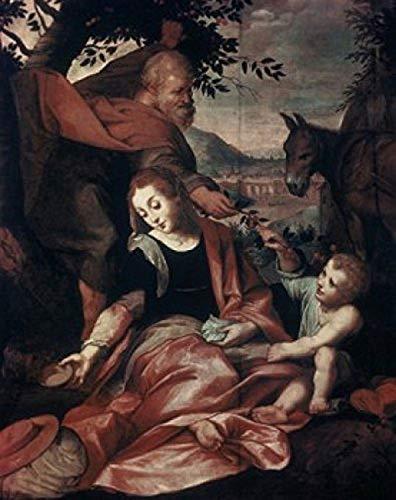Flight into Egypt 1573 Frederico Barocci (C1535-1612 UrbinoItaly) Vatican Museums & Galleries Rome Poster Print (18 x 24)