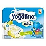Nestlé Yogolino Postre lácteo Mini con Pera Para bebés a partir de 6 meses - Paquete de 8x6 tarrinas de postre lácteo de 60g