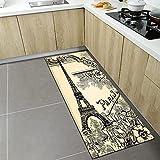 Alfombra de Cocina Alfombra de Puerta de Entrada para el hogar Dormitorio Junto a la Cama Sala de Estar decoración Alfombra baño Alfombra Antideslizante NO.12 50X160cm