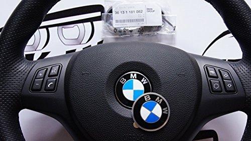 Emblema adhesivo metálico para volantes o llantas, logo de diámetro 45mm referencia 36131181082 (ver modelos de coche compatibles en la descripción)