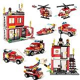 Building Blocks Fire Station City Coastline Emergency Rescue...