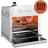 HEIMWERT Grillator Pro bis zu 800 Grad Oberhitzegrill mit Big Size Hochleistungsbrenner, XL Doppel Beef Griller Edelstahl, Grillen in Steakhouse Qualität