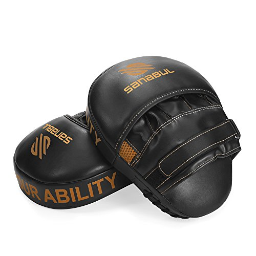 Sanabul Essential Curved Boxing MMA Punching Mitts (Metallic Copper)