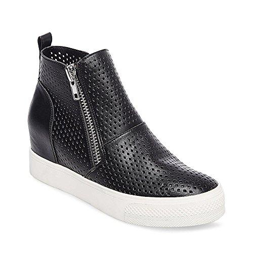 Price comparison product image Steve Madden Women's Wedgie-P Sneaker,  Black,  8.5 M US
