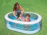 Cakunmik Piscina Inflable para niños, Piscina de jardín Oval, Parque acuático Juguetes de Fiesta Piscina Familiar, Piscina para niños, Piscina Inflable de la Bola del océano