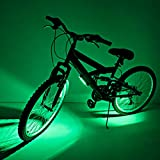 Brightz GoBrightz Bike Frame Light with Bright LED Glow, Green - Frame Mounted with Four Adjustable Lighting Modes - Improved Nighttime Safety - Fits Kids and Adults Bicycles