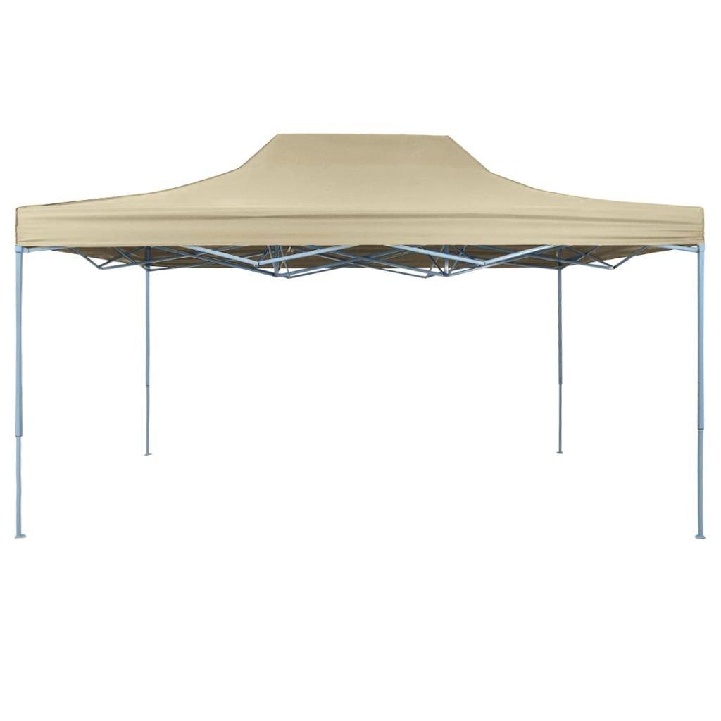 Xingshuoonline Cenador Plegable Carpa Desplegable 3x4, 5 m Blanco Crema Cenadores 100% Impermeable: Amazon.es: Jardín