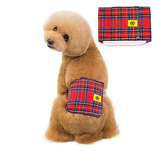 Rysmliuhan Shop PañAles para Perros Hembra PañAles Perro Macho Perro pañales Hombre Pantalones de Perro Perro período Pantalones Pañales para Perros Red,s