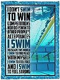 i Dont Swim-to-Win competitions Fleece Blanket Premium Sherpa Blanket Woven Blanket Custom