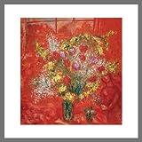 Germanposters Marc Chagall Fleurs sur Fond Rouge Poster