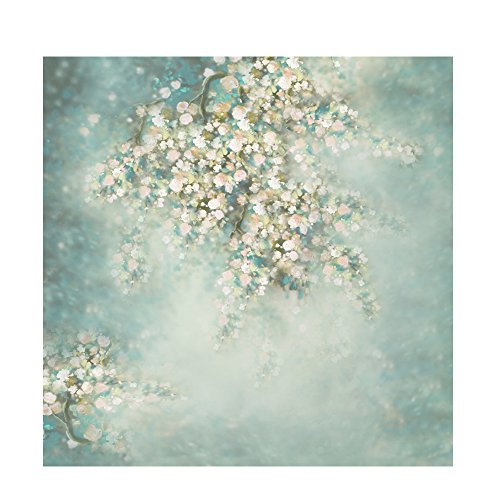 KonPon KP-223 KP-223 Blumen-Hintergr&, Baumwolle, Polyester, waschbar, für Neugeborene, Fotostudios, Babyparty, Requisiten für Hochzeiten, 150 x 300 cm
