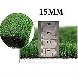 Césped Artificial Verde Concha Exterior de plástico protección del Medio Ambiente Alfombra Exterior Verde decoración recinto 15mm YNFNGXU (Size : 2x1m)